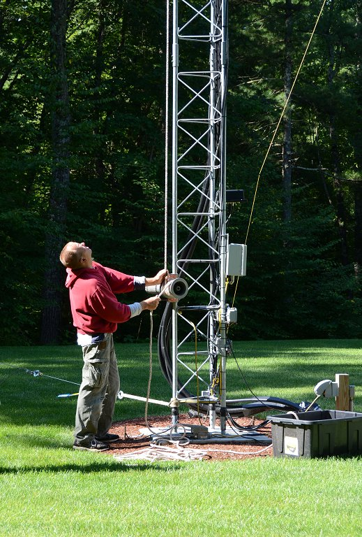 Antenna Projects - Lowering Antenna With Electric Winch