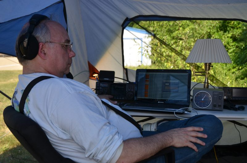 Jeff, WA1HCO Operating On 6m During Field Day 2016