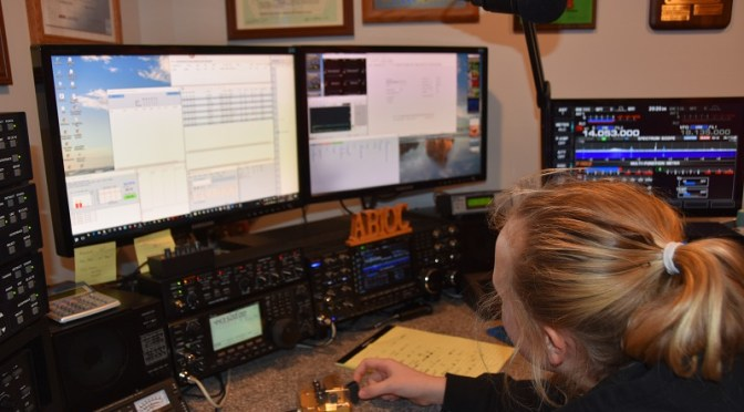 Abby, KC1FFX in the ARRL Rookie Roundup CW