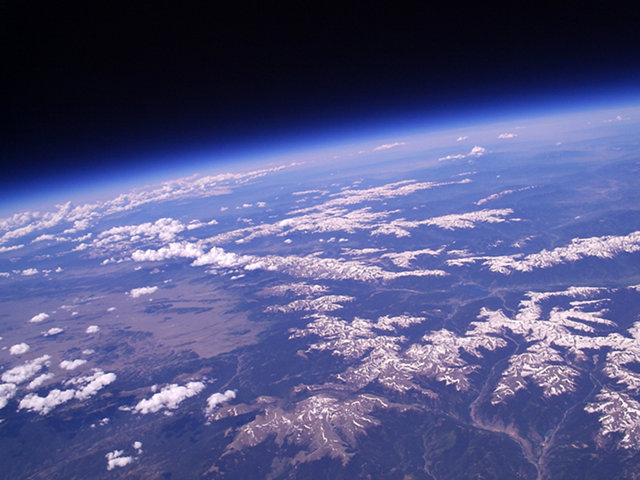 Earth From A High Altitude Balloon