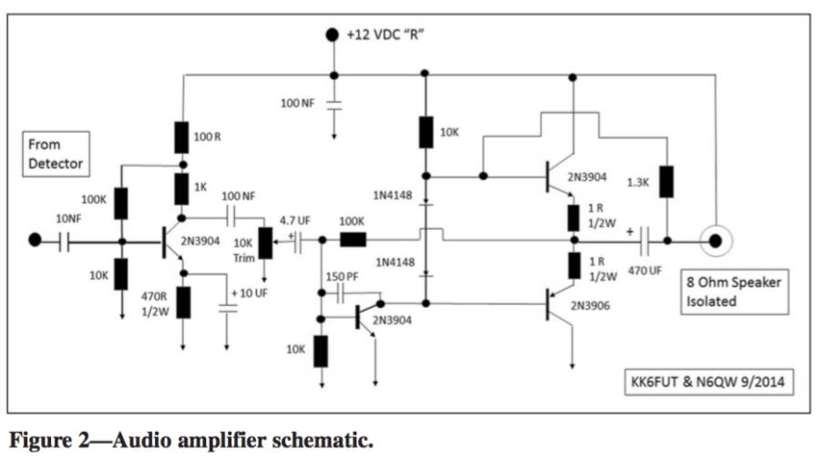 Homebrewed Transceiver Audio Amplifier Schematic