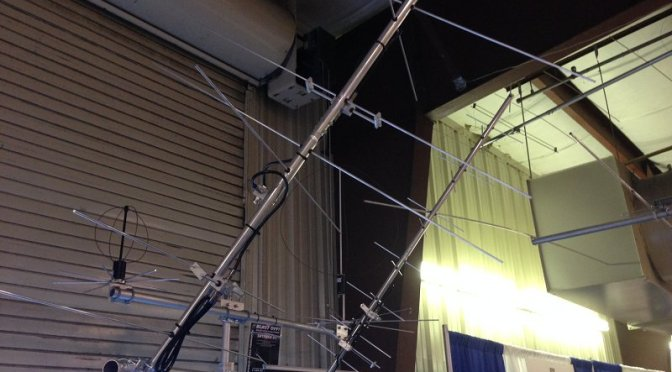 Satellite Antenna - M2 Antenna Systems LEO Pack on display at Dayton 2016