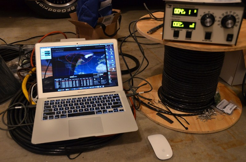 Satellite Antenna System - Rotator Test Using MacDoppler