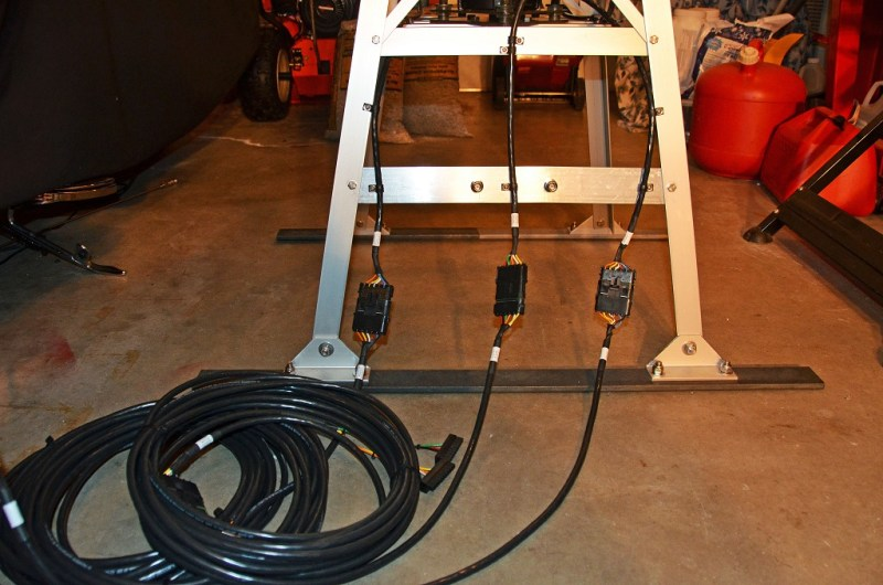 Satellite Antenna System - Portable Tower Cable Connections and Base Straps