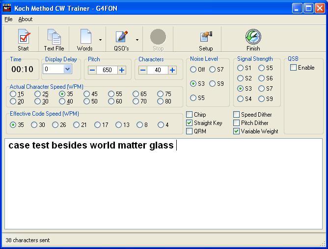 Learning Morse Code - G4FON Morse Code Trainer