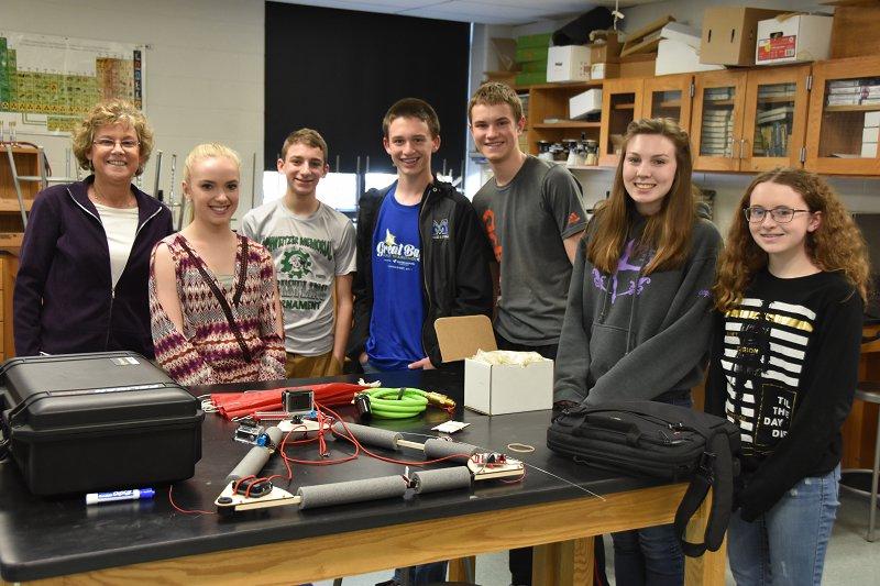 STEM Learning - Merrimack High School HAB Project Students