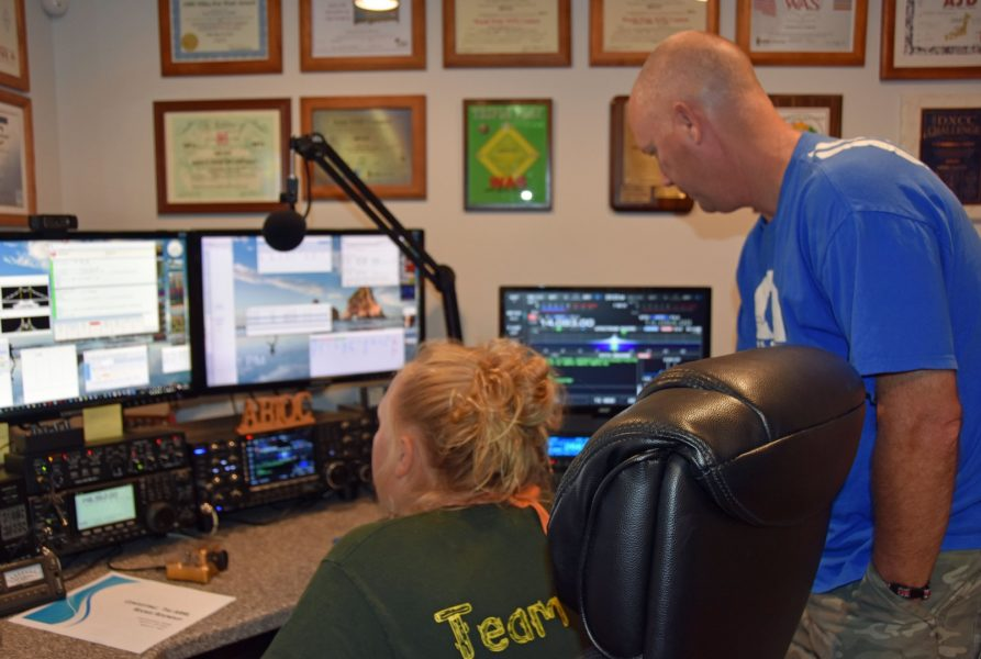 Abby, AB1BY and Jamey, KC1FFX operate during the 2016 Rookie Roundup RTTY