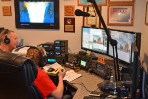 SSB - Abby and Her Dad Jamey Oeprating in the ARRL Rookie Roundup SSB