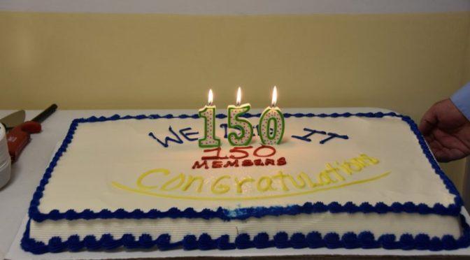 Another Milestone - 150 Member Celebration Cake