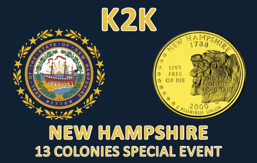 Thirteen Colonies Special Event – K2K New Hampshire QSL Card