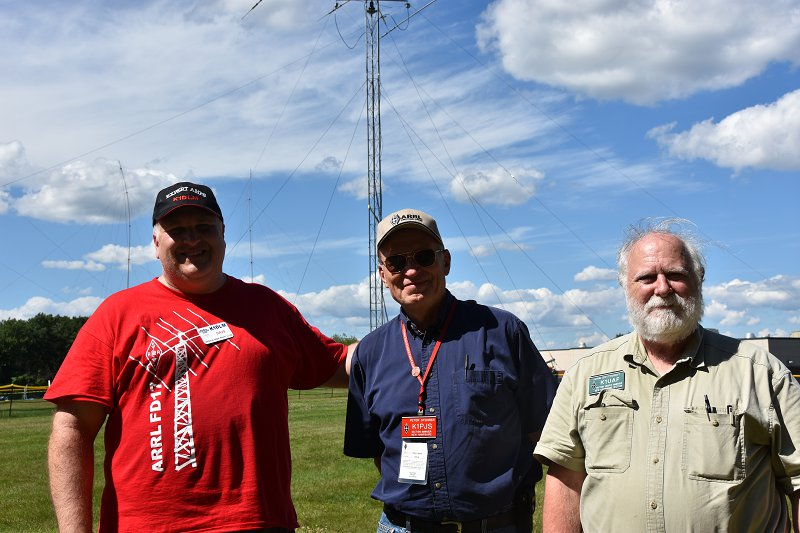 Field day 2017 Visitors - ARRL Section Leaders - Peter, K1PJS And John, K1UAF
