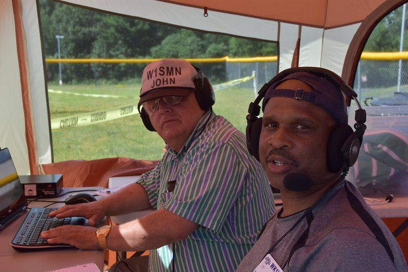 Field Day 2017 - John, W1SMN and Desmond, WK1V Operating SSB