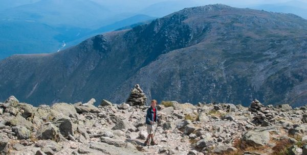 SOTA - Connor (KC1GGX) descending via Tuckerman's Ravine trail