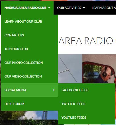 N1FD Social Media - New Social Media Menus Items on n1fd.org