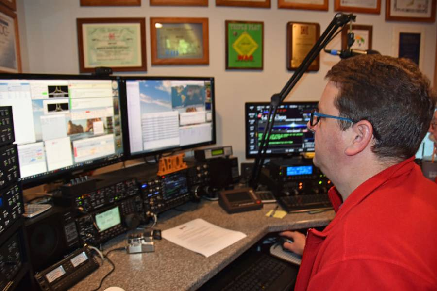Jim, K1BRM operating in the Rookie Roundup RTTY