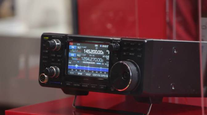 Icom IC-9700 Prototype Transceiver on Display