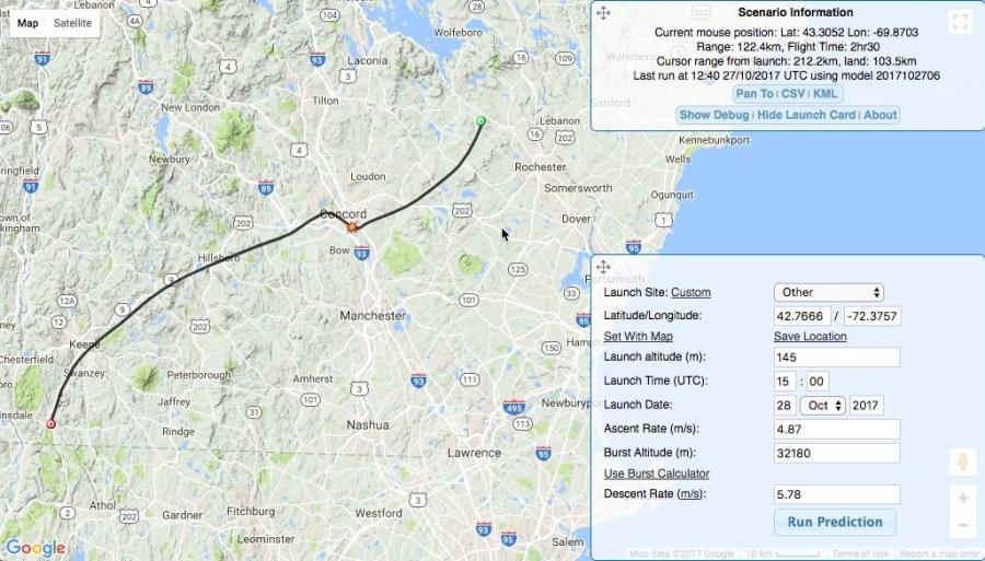 High-Altitude Balloon 2 Flight Path Projection