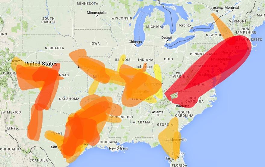 VHF Propagation Map