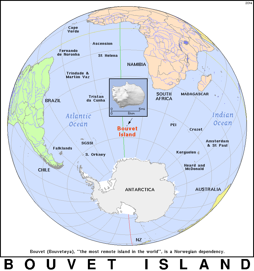 Map of Bouvet Island