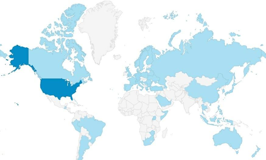 Worldwide n1fd.org Visitors in 2017