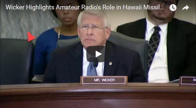 Miss. Senator Highlights Radio Operators Rapid Response to Hawaii's False Ballistic Missile Alert