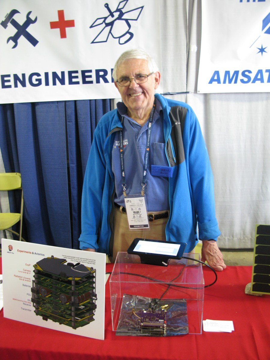 Burns Fisher, WB1FJ at the AMSAT Booth