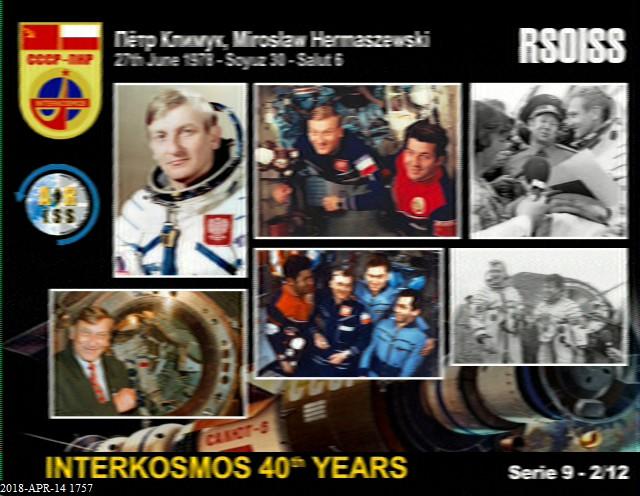 Cosmonautics Day Event -  ARISS SSTV Image 2 of 12