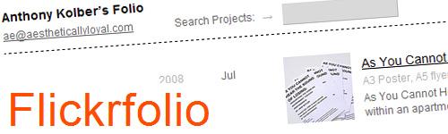 Crea tu propio portafolio totalmente gratis con FlickrFolio