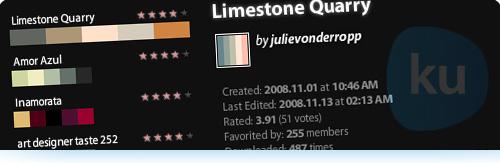 Crea, comparte y descarga paletas de colores para proyectos de Diseño