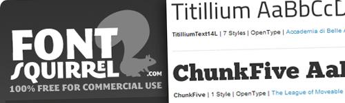 Font Squirrel, descarga gratis cientos de tipografías y kits @font-face