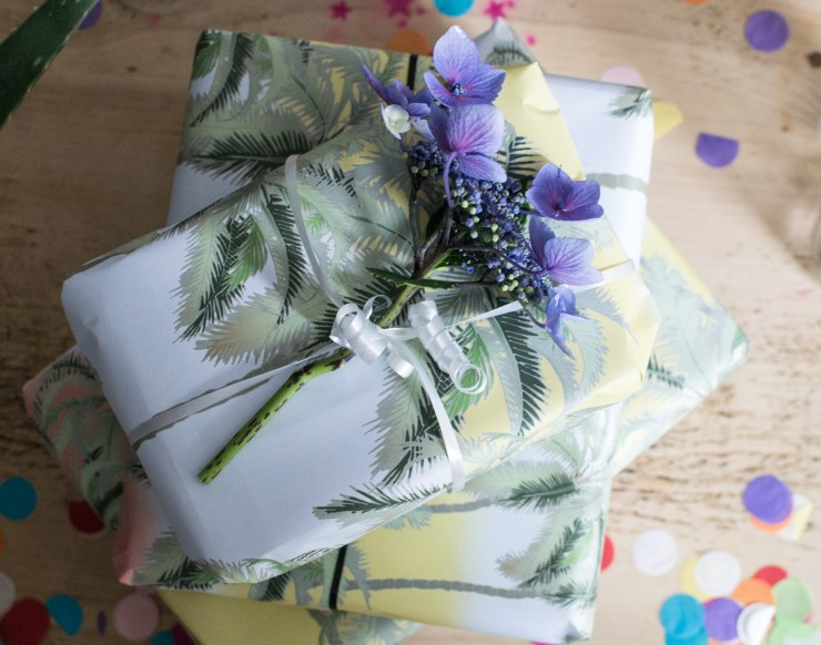 Emily Burningham Palm Tree Wrapping Paper