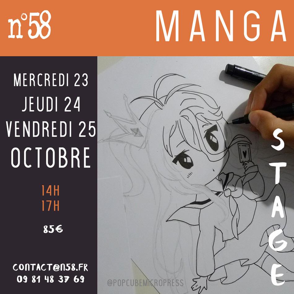Stage Manga pour les enfants et les ados apprendre à créer son personnage de manga, dessiner une planche de BD, utiliser du matériel professionnel