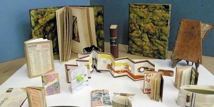 Exposition de papiers marbrés des célèbres marbreurs Expo visible jusqu'au 15 novembre.