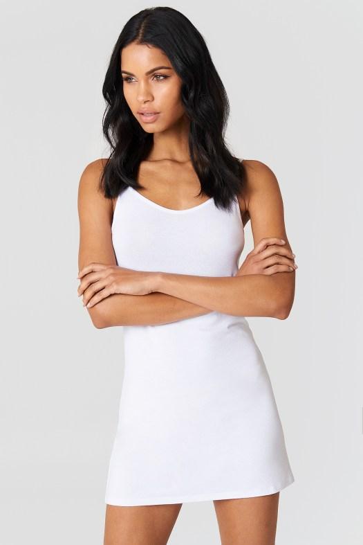 NA-KD Basic Dress White | na-kd.com