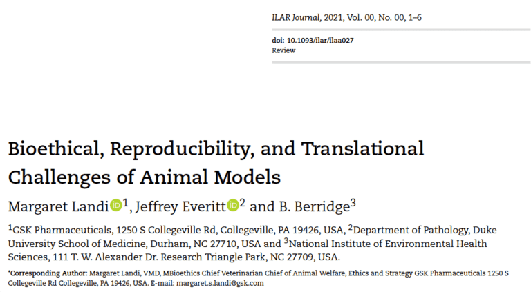 Bioethical, reproduciblity, and translational challenges of animal models
