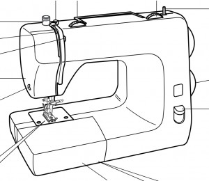 Máquina de coser Toyota DE224