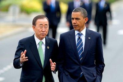 Barack Obama mit UN-Generalsekretär Ban Ki-Moon