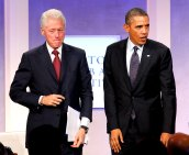 Barack Obama mit Bill Clinton