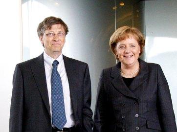 Angela Merkel mit Microsoft-Gründer Bill Gates