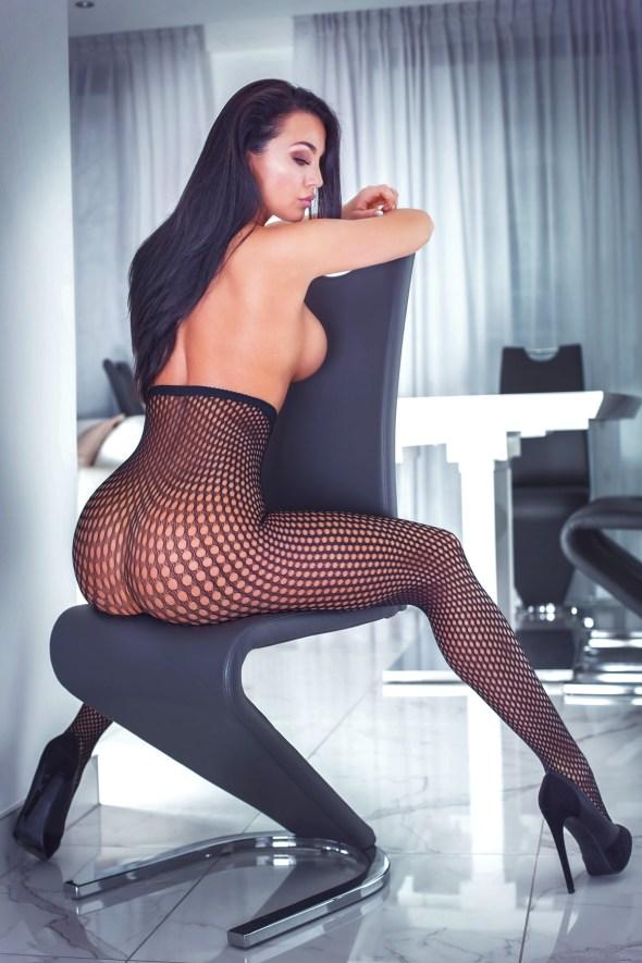 Sexy Girl mit Büro
