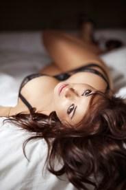 Traumfrau im Bett