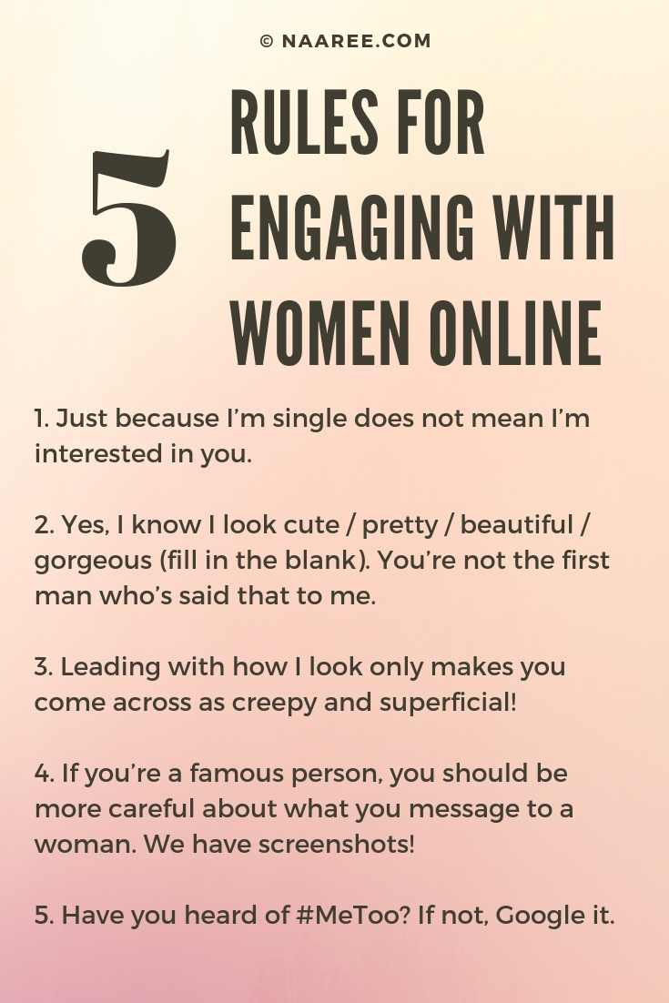 Rules For Engaging With Women Online
