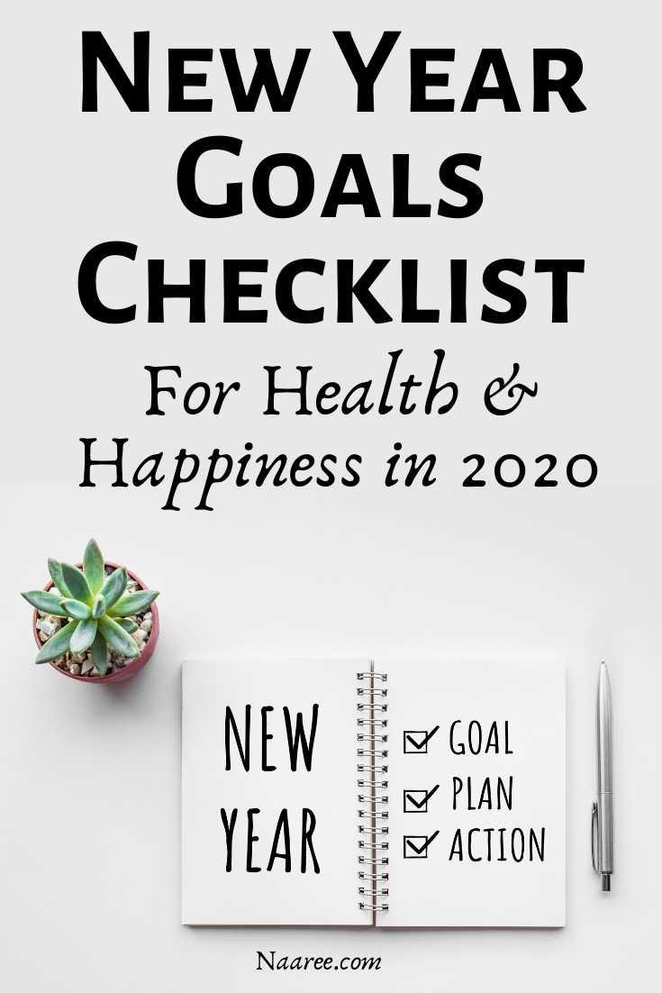 New Year Goals Checklist