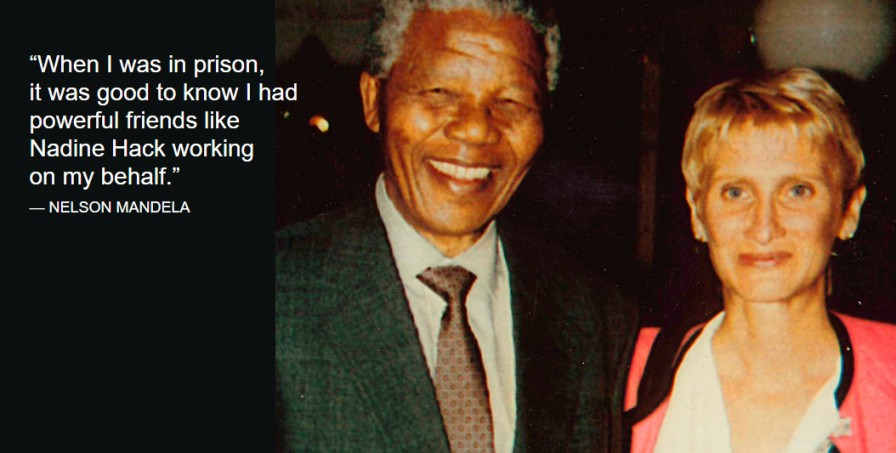 Nadine Hack with Nelson Mandela