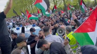 صورة آلالاف الدنماركيين يشاركون في مظاهرة داعمة للشعب الفلسطيني