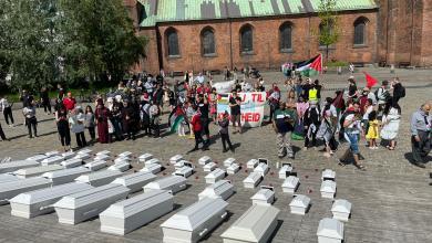 صورة فعاليات تضامنية مع فلسطين في مدينتي كوبنهاجن وأورهوس أمس