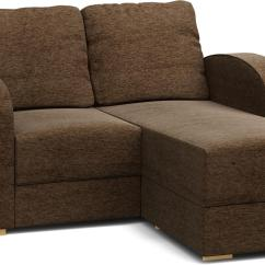 2 Seater Chaise Sofa Bed Sectional Sleeper Leather Lear Seat Single Nabru