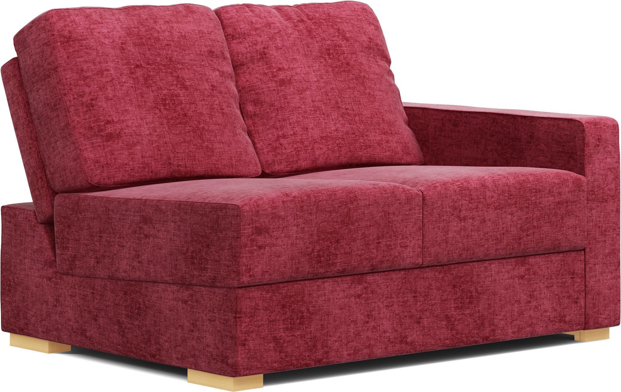 lear one armless 2 seat space saving sofa