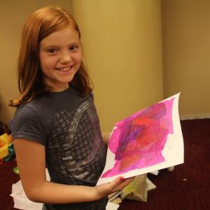 A girl with an art.