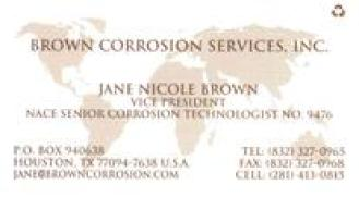 Brown Corrosion